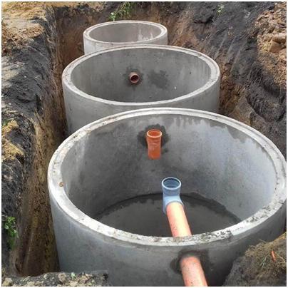 Плюсы и минусы септика из бетонных колец