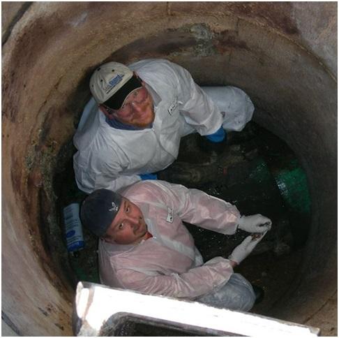 канализационные смотровые колодцы